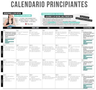 Calendario Septiembre Gymvirtual.Gym Virtual